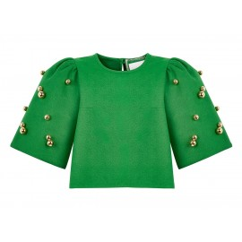 AW15 LOOK 35.5 GREEN BLOUSE