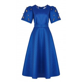 aw15 look 09 cobalt blue dress