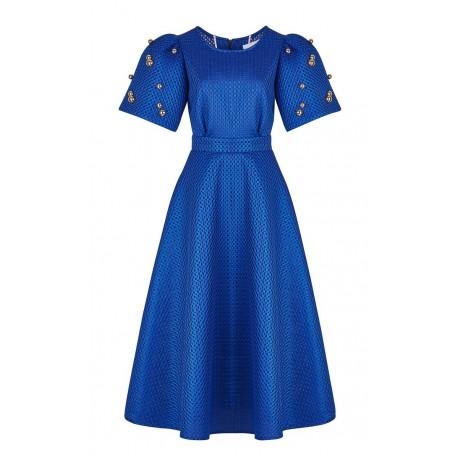 AW15 LOOK 09  COBALT BLUE DRESS