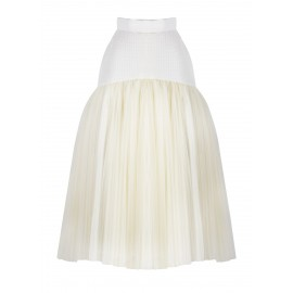 aw15 look 06.1 cream skirt