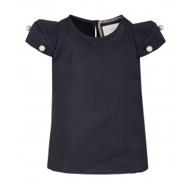 AW15 PETITE LOOK 08.2 NAVY BLUE BLOUSE