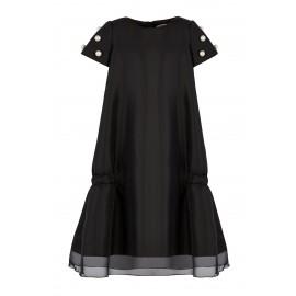 AW15 PETITE LOOK 10.1 BLACK DRESS