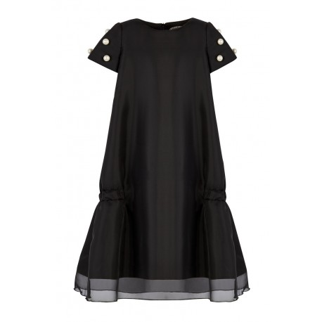 AW15 PETITE LOOK 10.1 BLACK DRESS