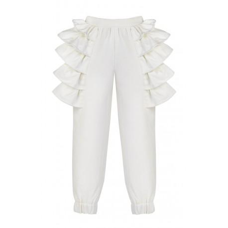 AW15 PETITE LOOK 06.2 WHITE PANTS