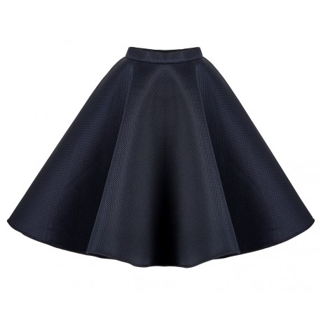 AW15 PETITE LOOK 08.1 NAVY BLUE SKIRT