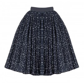 BA05 PETITE LOOK 13.5 NAVY BLUE PLEATS SKIRT