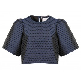 AW15 LOOK 07.6 NAVY BLUE BLOUSE