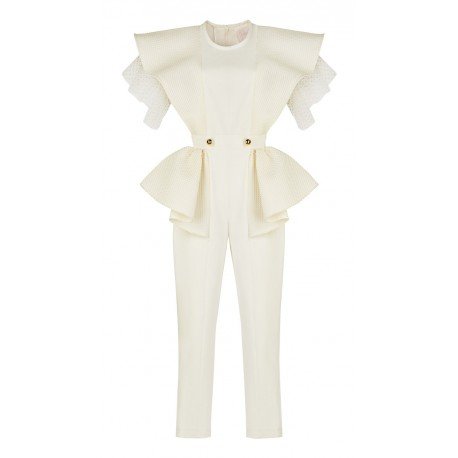 AW15 LOOK 19.1 WHITE JUMPSUIT