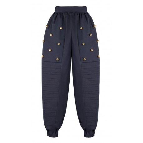 AW15 LOOK 16.1 NAVY BLUE PANTS