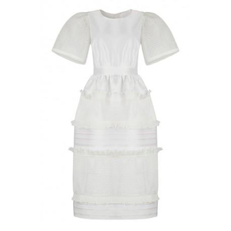 AW15 LOOK 37 WHITE DRESS