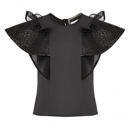 BS06 LOOK 17 BLOUSE BLACK LEAD
