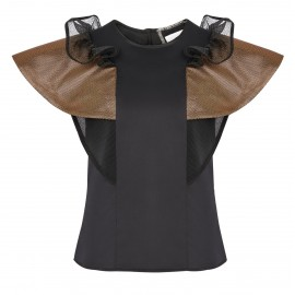 BS06 LOOK 17 BLOUSE BLACK