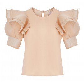 SS16 LOOK 31 BLOUSE SALMON