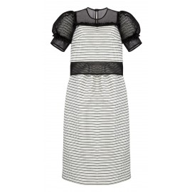 ss16 look 5 dress black-white