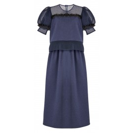 BS06 LOOK 05 DRESS NAVY BLUE