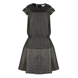 AW15 LOOK 12.10 DEEP BLACK DRESS