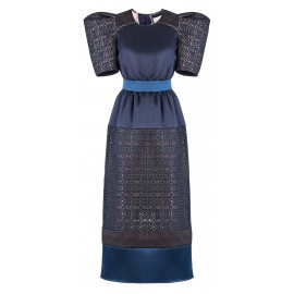 AW16 LOOK 12 NAVY BLUE DRESS