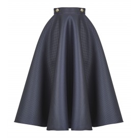 AW15 LOOK 04.4 NAVY BLUE SKIRT