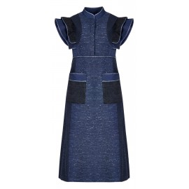 BS07 LOOK 09.2 NAVY BLUE DRESS