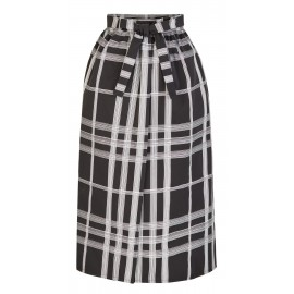 BA04 LOOK 16 BLACK-WHITE SKIRT