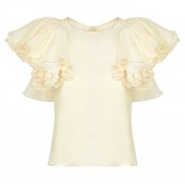 BA05 LOOK 08 CREAM BLOUSE