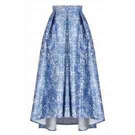 LONG SKIRT WITH BLUE FLOWERS