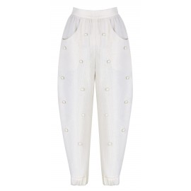 PANTS WITH PEARL BUBBLES