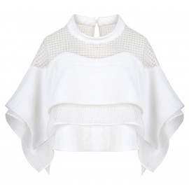 BLOUSE WITH WIDE BAT SLEEVES