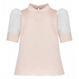 BLOUSE WITH HIGH COLLAR
