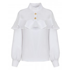 UNIQUELY ELEGANT WHITE BLOUSE