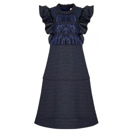 ROUND NECK NAVY BLUE DRESS