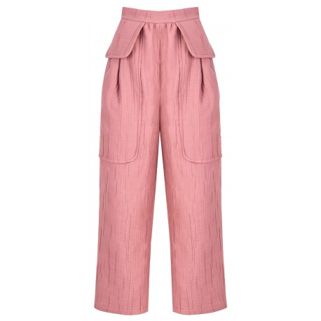 SS18 LOOK 02 WOMAN PINK PANTS