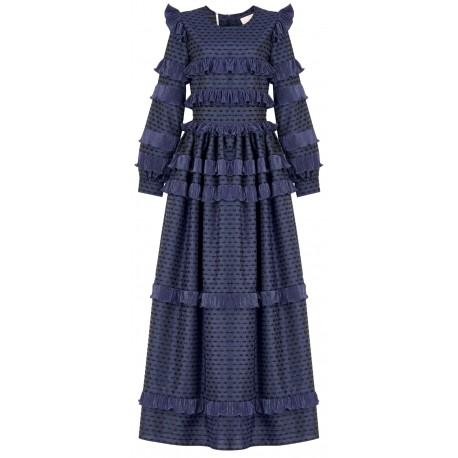 SS18 LOOK 10 WOMAN NAVY BLUE DRESS
