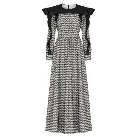 SS18 LOOK 12 WOMAN PATTERN DRESS