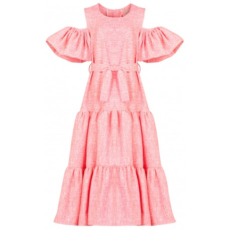 SS18 LOOK 16 WOMAN PINK DRESS