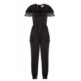 SS15 LOOK 02 BLACK JUMPSUIT