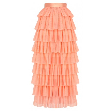 ss18 look 19 woman frilly skirt