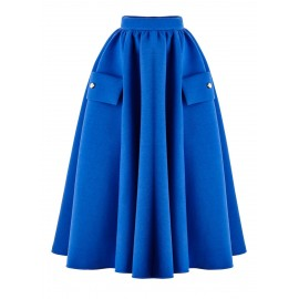 BS05 LOOK 16 COBALT BLUE SKIRT