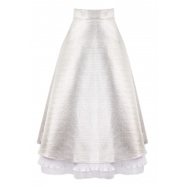 SS15 LOOK 41 SILVER SKIRT