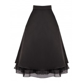 SS15 LOOK 41 BLACK SKIRT