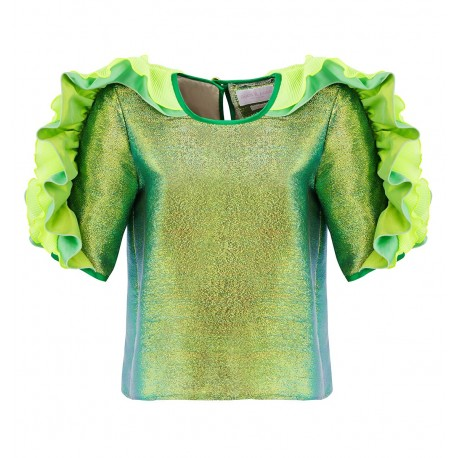 SS15 LOOK 26 BLOUSE LIGHT GREEN