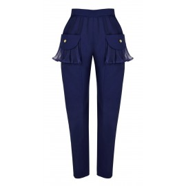 SS15 PETITE LOOK 03 NAVY BLUE PANTS