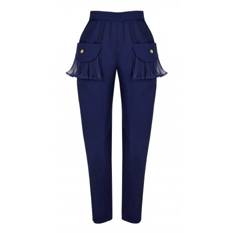 SS15 PETITE LOOK 03 NAVY BLUE PANTS